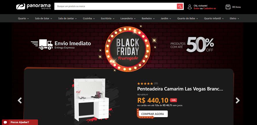Panorama Móveis Homepage