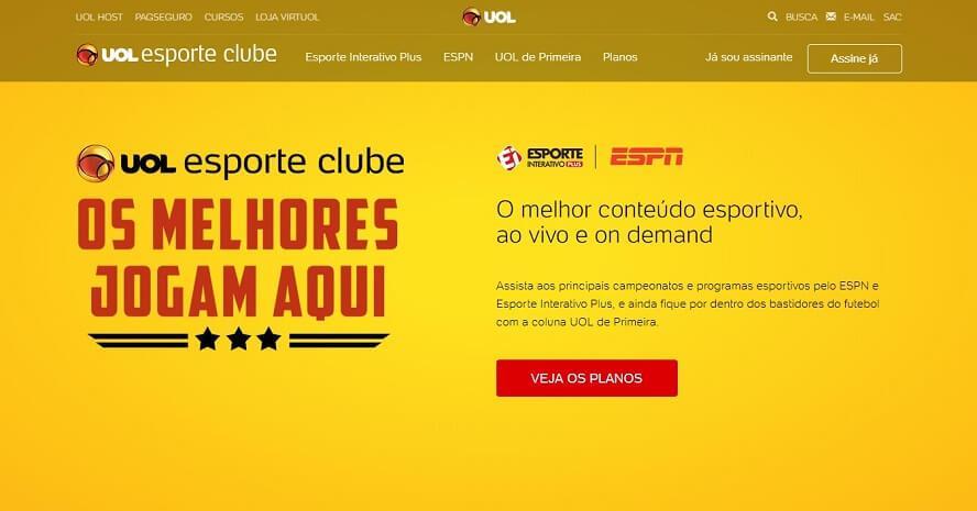 Planos com desconto UOL Esporte Clube
