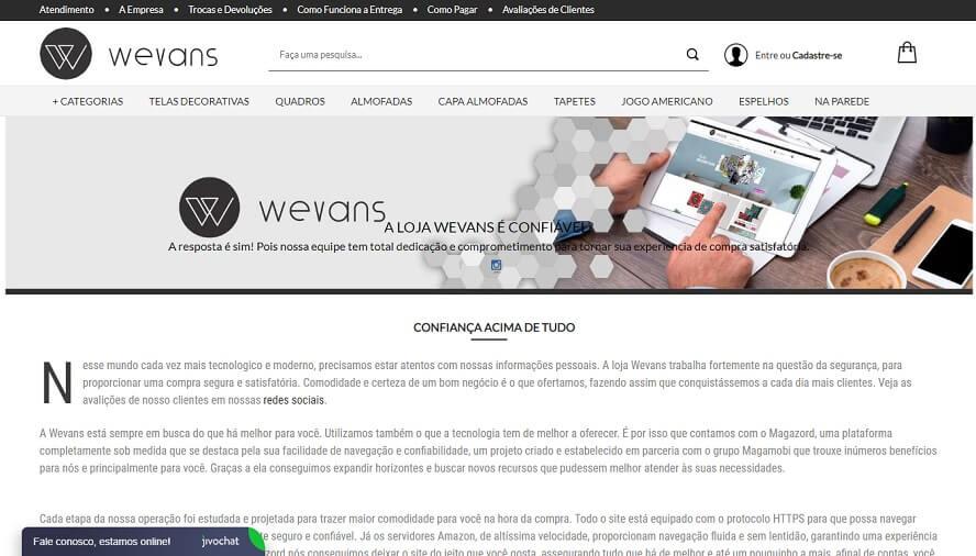 Loja Wevans é Confiável?