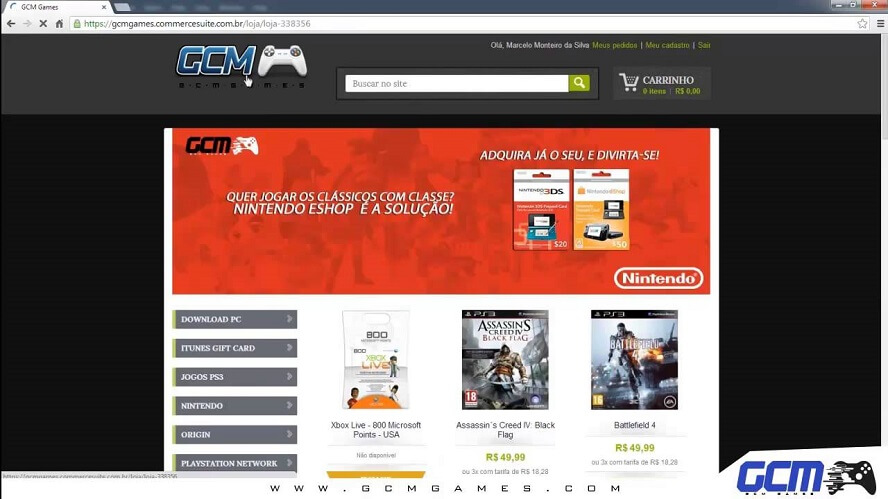 Código Promocional GCM Games