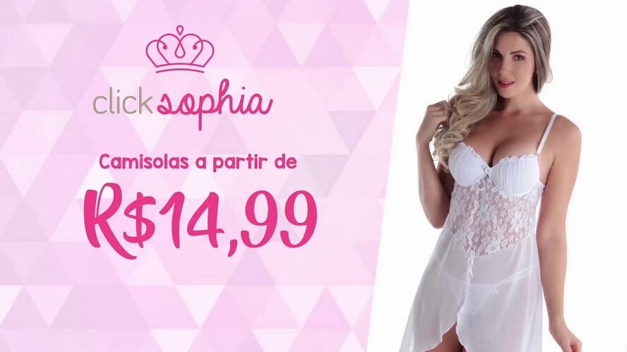 Cupom de desconto Click Sophia