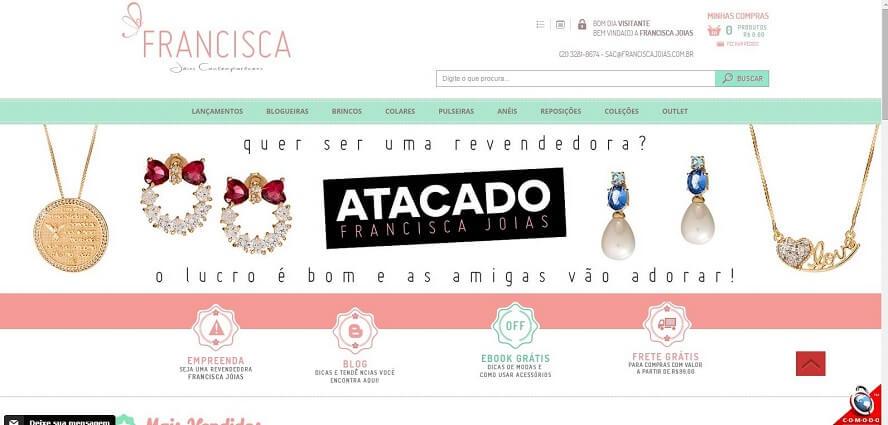 Cupom de desconto Francisca Jóias