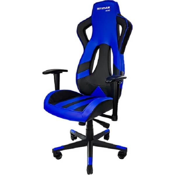 Cadeira Gamer MX11 Giratória Preto/Azul - Mymax